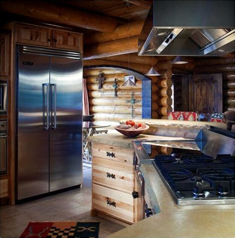 log cabin with bathroom and kitchen log cabin kitchens traditional kitchen wichita by