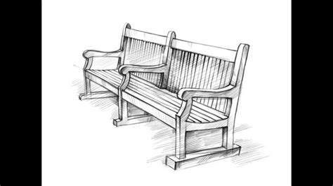how to draw a bench how to draw a bench youtube