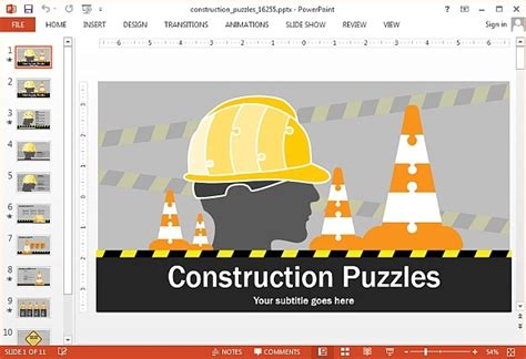 Best Animated Construction Powerpoint Templates Powerpoint Presentation Microsoft Powerpoint Templates Safety