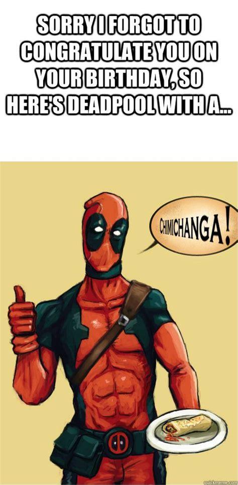 Superhero Birthday Meme - deadpool funny meme http whyareyoustupid com deadpool