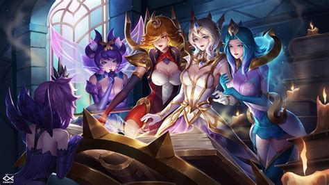 elementalist lux skin video game league  angel fan art