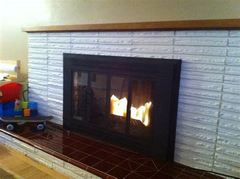 Paint Brick Fireplace by Recycled Letters Are Napping Lets Paint A