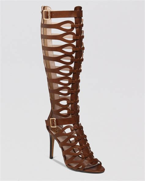 high heeled gladiator sandals vince camuto gladiator sandals omera high heel in brown