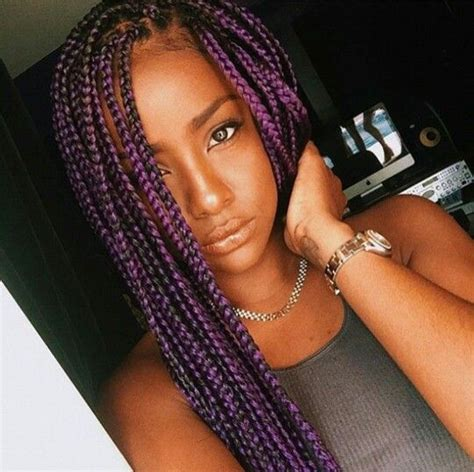 grey and purple combined together style box breads 17 meilleures id 233 es 224 propos de purple box braids sur