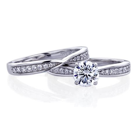 Wedding Rings Sterling Silver by Wedding Ring Sets Sterling Silver Wedding Rings Ideas