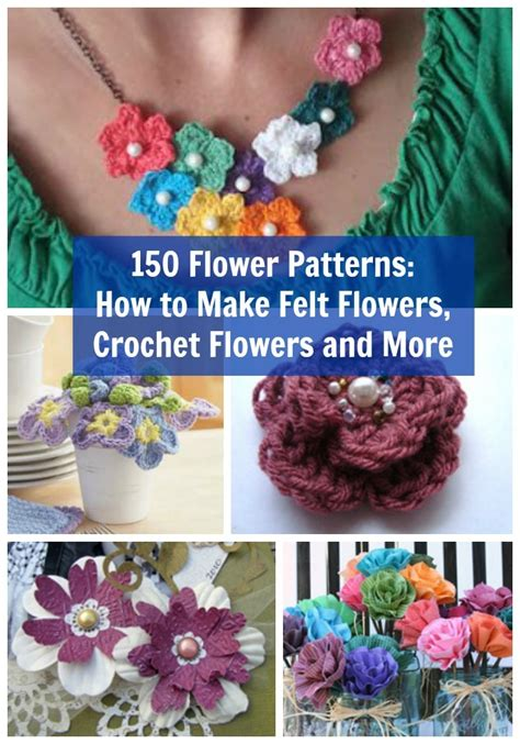flower patterns    felt flowers crochet