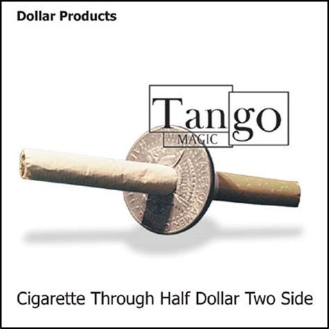 Coin Thru Cigarette cigarette thru coin half dollar premium 48 00 vanishing inc magic shop