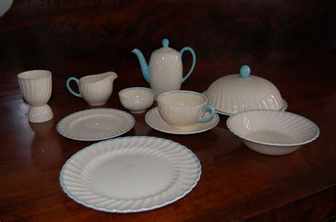 Breakfast Set Vintage Susie Cooper Breakfast Set Turquoise Swirl Pattern