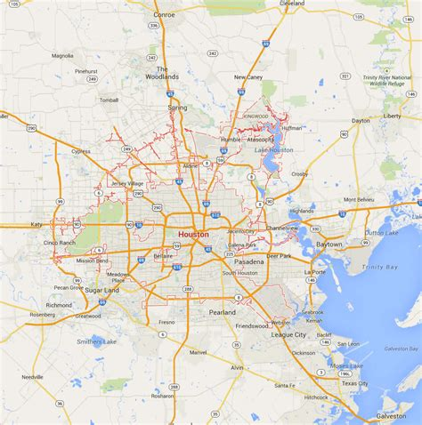 houston on a texas map map of houston tx area images