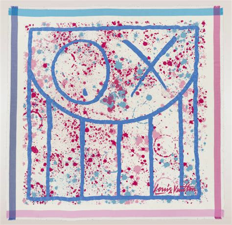 Andre Talley His Louis Vuitton Monogram Purse by Louis Vuitton Artists Scarves Collaboration For