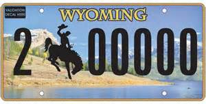 Wyoming Vanity Plates by New Wyoming License Plates Revealed