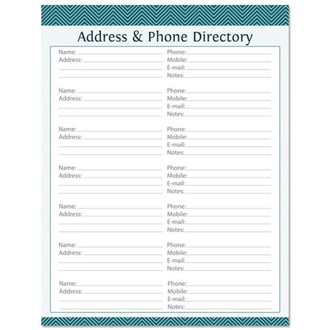 Address Search By Phone Address Phone Directory Fillable Printable Pdf Instant