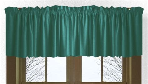 10 Inch Valance 10 Inch Teal Window Valance On Clearance