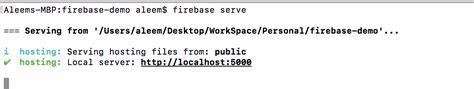 host static website  firebase hosting