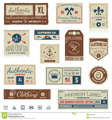 vintage clothing tags royalty free stock images image