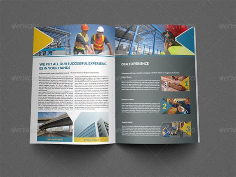 construction flyer templates free construction business brochure template 8 pages by