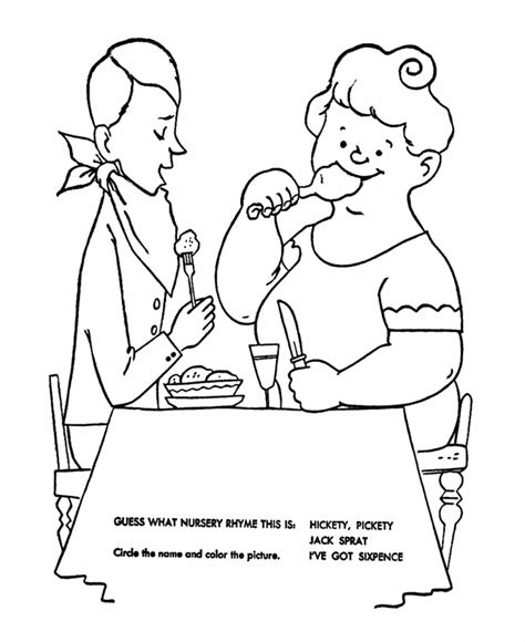 jack and jill coloring page coloring home