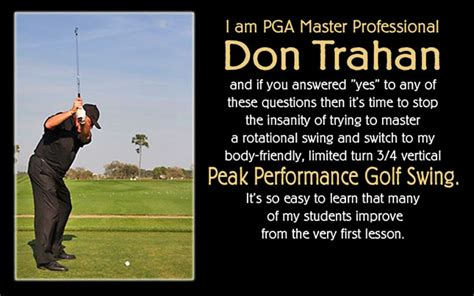 don trahan swing surgeon swing surgeon don trahan peak performance golf swing