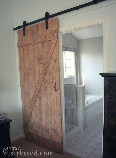 Sliding Barn Doors Diy Pretty Distressed Diy Distressed Sliding Barn Door