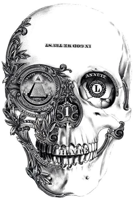 money skull arquitetura pinterest skull drawings