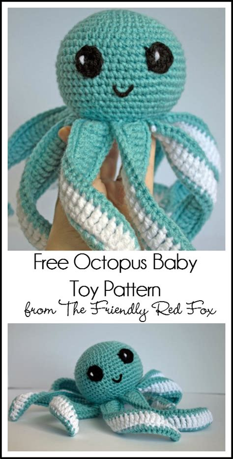 knitting pattern octopus toy the friendly red fox amigurumi octopus baby toy free