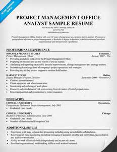Pmo Analyst Cover Letter by Pmo Analyst Resume Resumecompanion Resume Sles Across All Industries