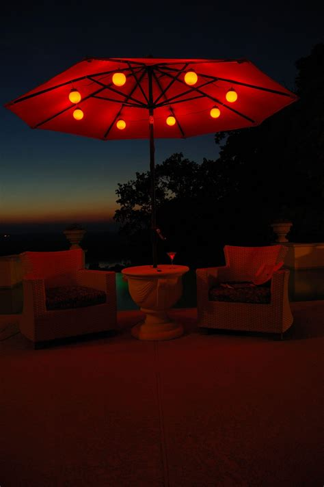 Patio Umbrella String Lights Patio Living Concepts Globe Umbrella Lights By Oj Commerce 104 00 190 00