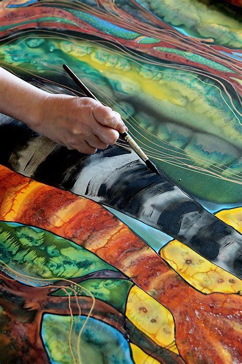 Silk Painting  Moon Rhapsody