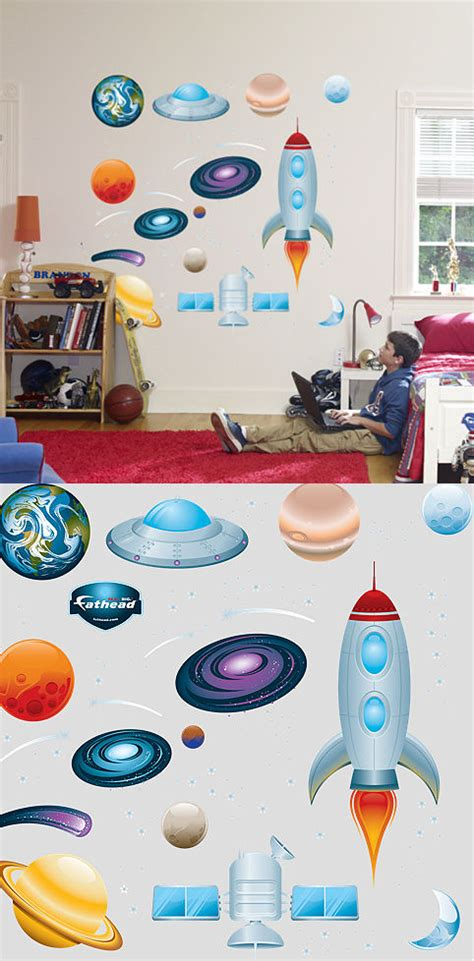 fathead wall sticker fathead outer space peel and stick wall sticker