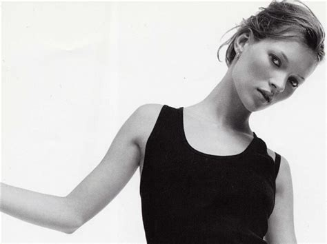 Supermodel Chic by Heroin Chic Supermodel Kate Moss Is Posing For