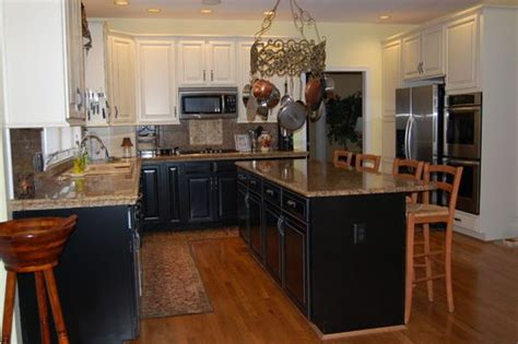 lower kitchen cabinets black lower cabinets and black island with white upper