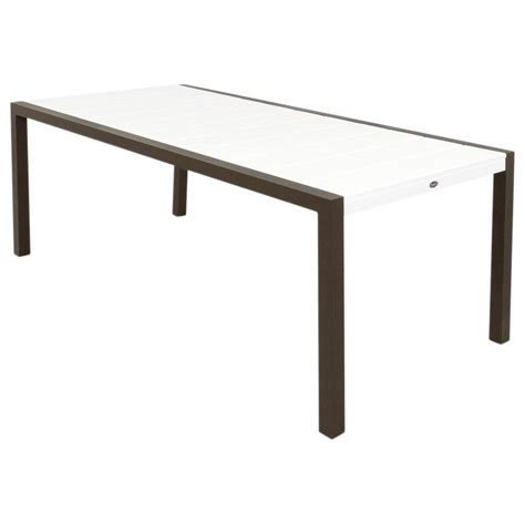 home depot dining table trex outdoor furniture surf city 36 in x 73 in textured