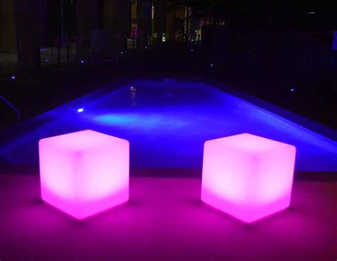 illumunated cubes cm glow cubes indoor  outdoor