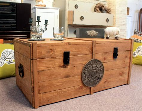 Wooden Chest Coffee Table Rustic Wooden Chest Trunk Blanket Box Antique Style Coffee Table Gwr Tv Stand Ebay