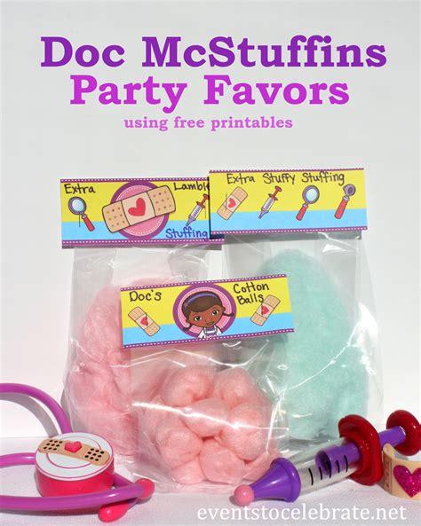Doc mcstuffins party favors events to celebrate