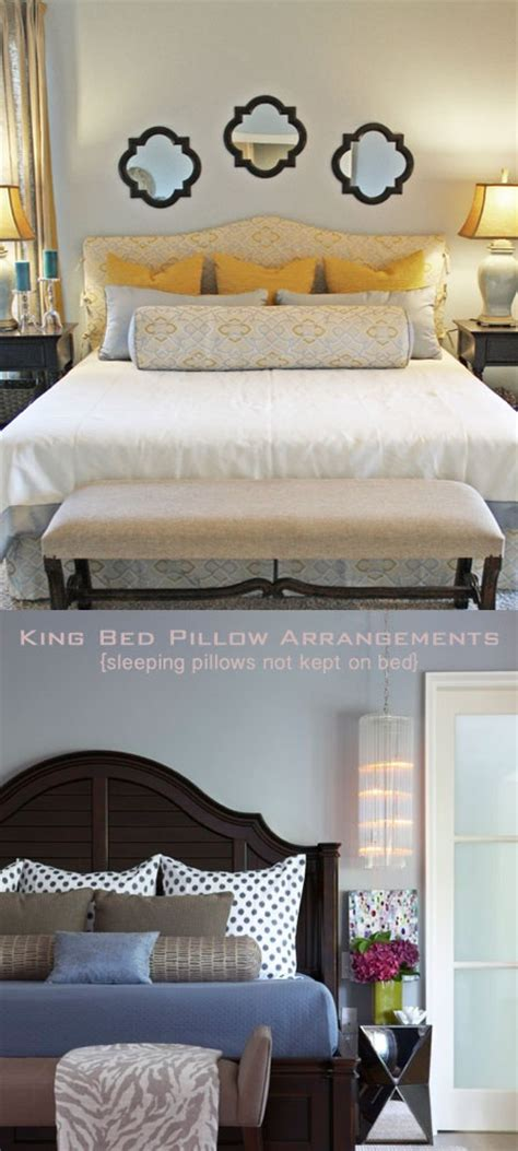 how to arrange pillows on king bed king bed pillows master pinterest