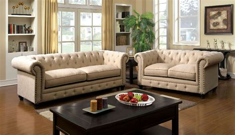 tufted sofa and loveseat set stanford ivory tufted sofa