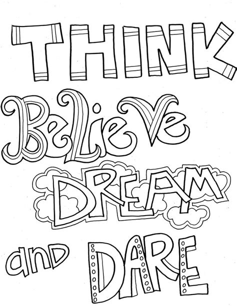 speak inspirational coloring page coloring pages