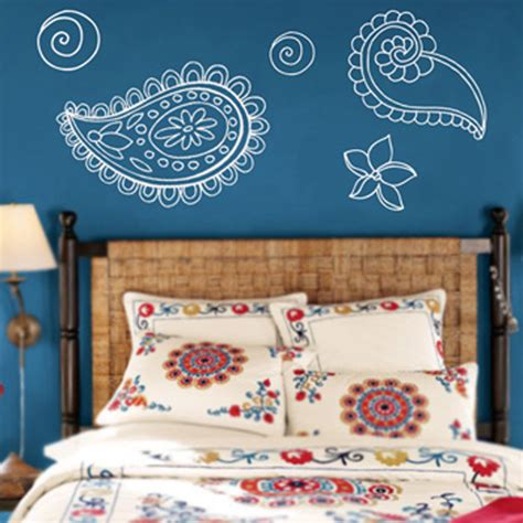 paisley wall stickers paisley flowers wall decal sticker graphic