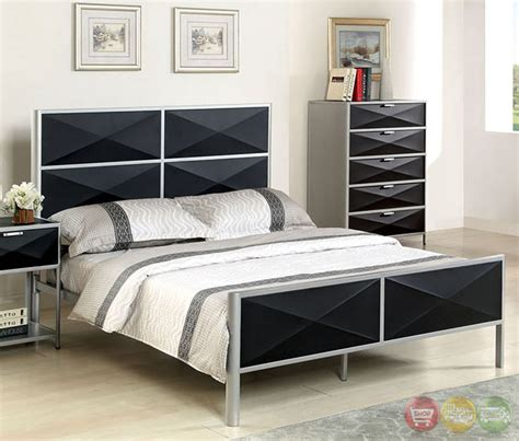black and silver bedroom set largo contemporary silver and black youth bedroom set with