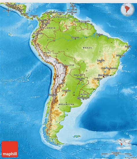south america physical map physical 3d map of south america