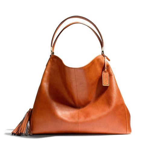 Shoulder Bag Coach coach large phoebe shoulder bag in buffalo embossed leather in brown lyst