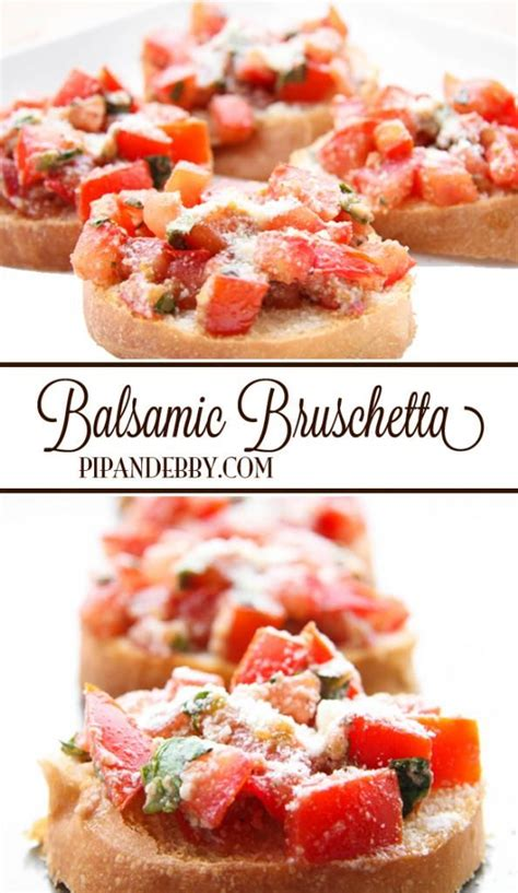 balsamic bruschetta recipe party food appetizers