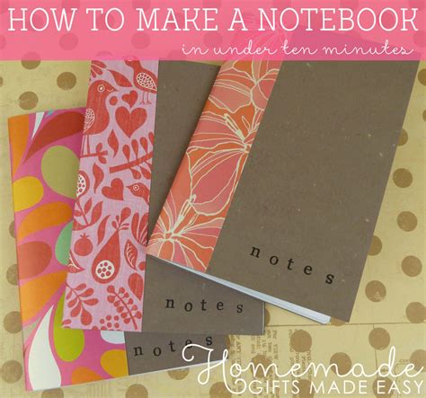 How To Make Handmade Notebooks - how to make a notebook