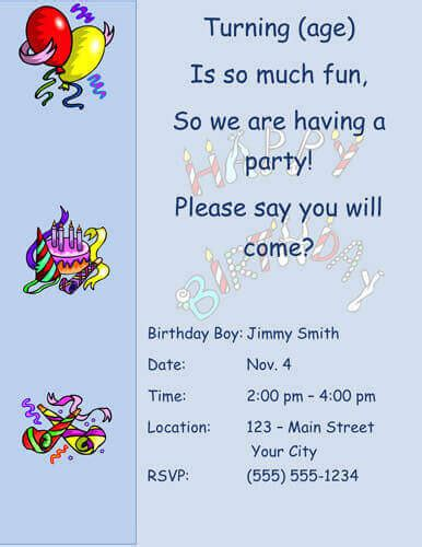 boy birthday invitation letter 33 free diy printable invitations for