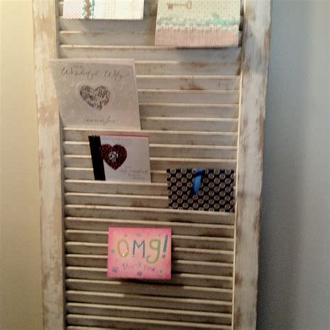 Diy Card Display Rack by Shutter Greeting Card Holder Display Ideas