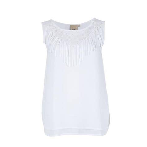 imagenes de mallas blancas blusa blanca flecos de ichi blusas mujer imodashop