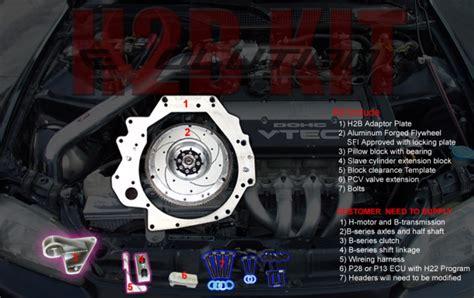 honda h2b engine h2b conversion kits