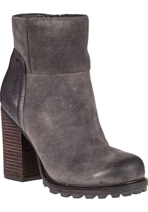 gray suede boots sam edelman franklin ankle boot grigio grey suede in gray