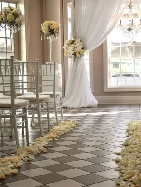 wedding indoor indoor ceremony decorations archives weddings romantique
